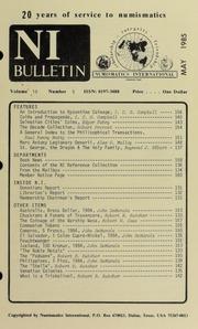 Numismatics International Bulletin, Vol. 19, No.5