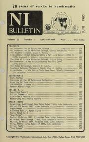 Numismatics International Bulletin, Vol. 19, No.6