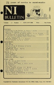 Numismatics International Bulletin, Vol. 19, No.7
