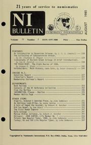 Numismatics International Bulletin, Vol. 19, No.8