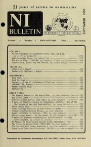 Numismatics International Bulletin, Vol. 19, No.9