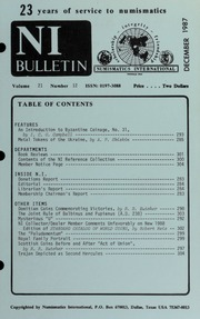 Numismatics International Bulletin, Vol. 21, No.12