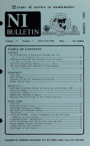 Numismatics International Bulletin, Vol. 21, No.3