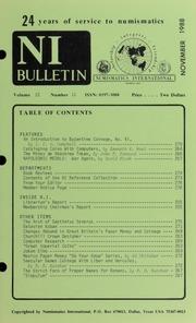 Numismatics International Bulletin, Vol. 22, No.11