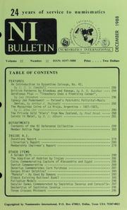 Numismatics International Bulletin, Vol. 22, No.12