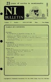 Numismatics International Bulletin, Vol. 22, No.1