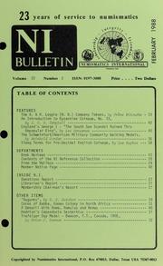 Numismatics International Bulletin, Vol. 22, No.2