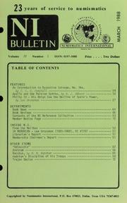 Numismatics International Bulletin, Vol. 22, No.3
