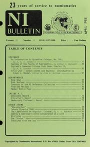 Numismatics International Bulletin, Vol. 22, No.4