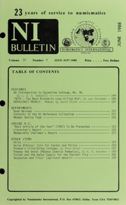 Numismatics International Bulletin, Vol. 22, No.6