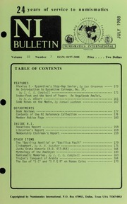 Numismatics International Bulletin, Vol. 22, No.7