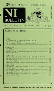 Numismatics International Bulletin, Vol. 22, No.8