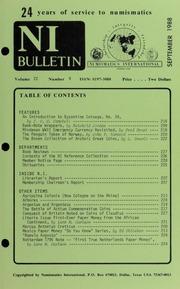 Numismatics International Bulletin, Vol. 22, No.9