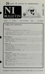 Numismatics International Bulletin, Vol. 23, No.1