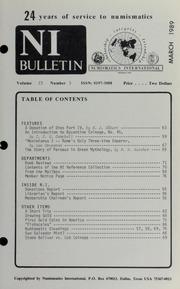 Numismatics International Bulletin, Vol. 23, No.3