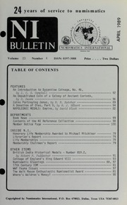 Numismatics International Bulletin, Vol. 23, No.4