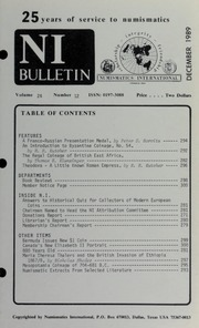 Numismatics International Bulletin, Vol. 24, No.12