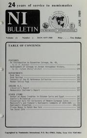 Numismatics International Bulletin, Vol. 24, No.6