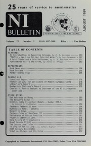 Numismatics International Bulletin, Vol. 24, No.8