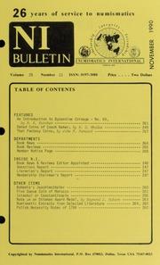 Numismatics International Bulletin, Vol. 25, No.11