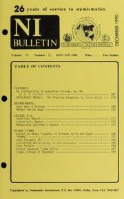 Numismatics International Bulletin, Vol. 25, No.12