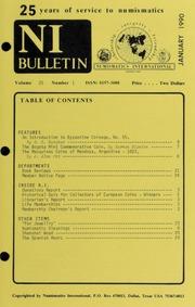Numismatics International Bulletin, Vol. 25, No.1