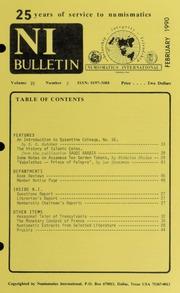 Numismatics International Bulletin, Vol. 25, No.2