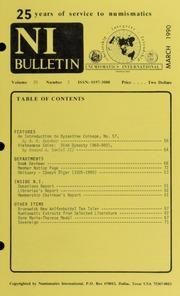 Numismatics International Bulletin, Vol. 25, No.3