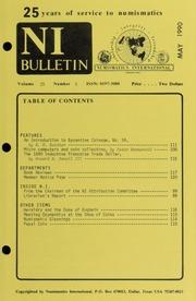 Numismatics International Bulletin, Vol. 25, No.5