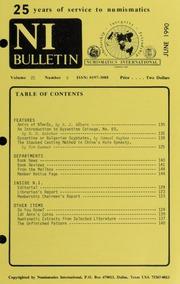Numismatics International Bulletin, Vol. 25, No.6