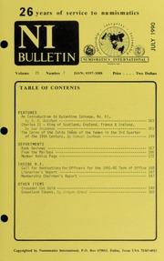 Numismatics International Bulletin, Vol. 25, No.7