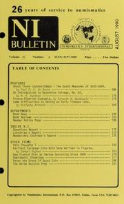 Numismatics International Bulletin, Vol. 25, No.8