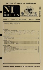 Numismatics International Bulletin, Vol. 26, No.10