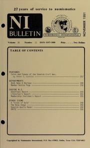 Numismatics International Bulletin, Vol. 26, No.11