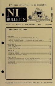 Numismatics International Bulletin, Vol. 26, No.12