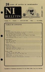 Numismatics International Bulletin, Vol. 26, No.1