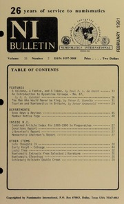 Numismatics International Bulletin, Vol. 26, No.2