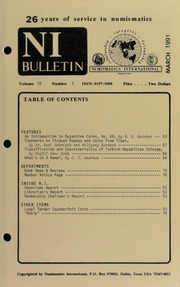 Numismatics International Bulletin, Vol. 26, No.3
