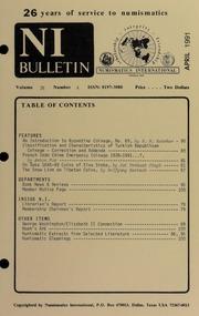 Numismatics International Bulletin, Vol. 26, No.4