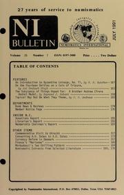 Numismatics International Bulletin, Vol. 26, No.7
