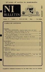 Numismatics International Bulletin, Vol. 26, No.8