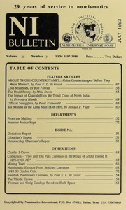Numismatics International Bulletin, Vol. 28, No.7