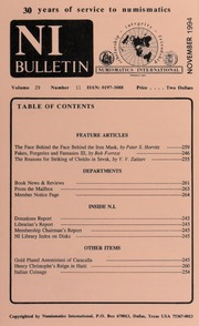 Numismatics International Bulletin, Vol. 29, No.11