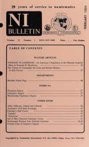 Numismatics International Bulletin, Vol. 29, No.2
