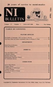 Numismatics International Bulletin, Vol. 29, No.4