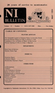 Numismatics International Bulletin, Vol. 29, No.5