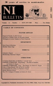 Numismatics International Bulletin, Vol. 29, No.7