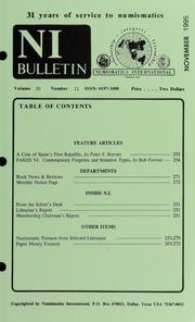 Numismatics International Bulletin, Vol. 30, No.11