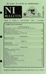 Numismatics International Bulletin, Vol. 30, No.12