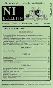 Numismatics International Bulletin, Vol. 30, No.2